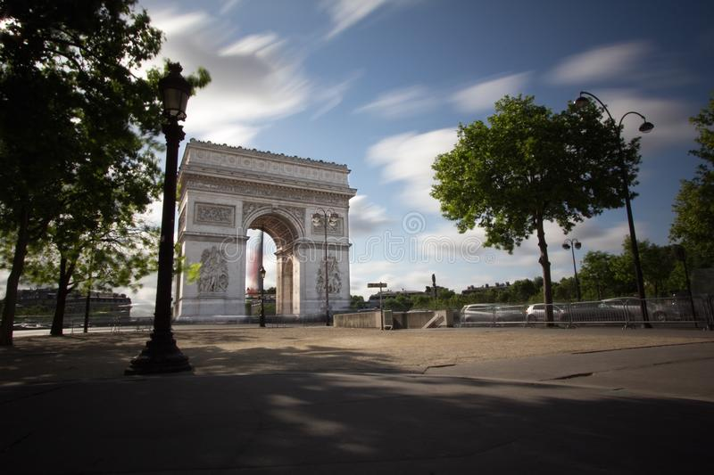 Champs Elysee. A view of the Champs Elysee,Paris royalty free stock image