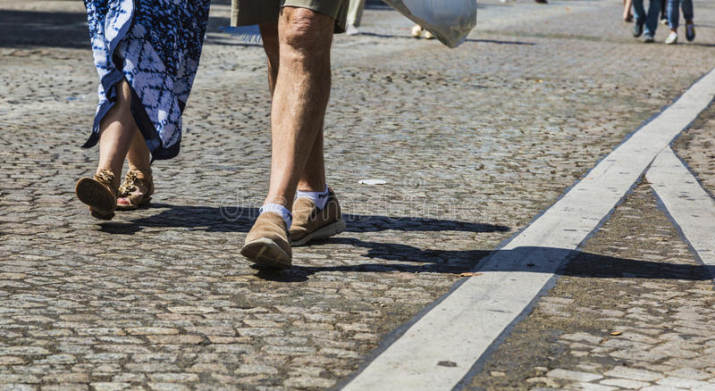 Download Champs Elysees on Foot editorial image. Image of champs - 97487800