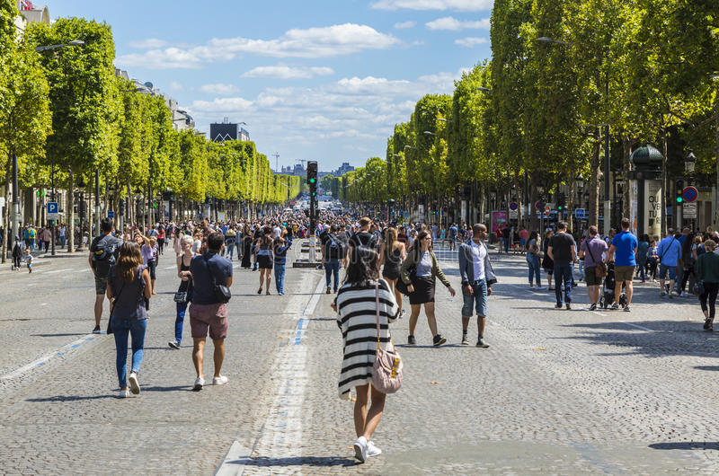 Download Champs Elysees on Foot editorial photo. Image of historic - 97487781