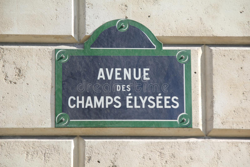 Champs-Elysees i Paris royaltyfria bilder