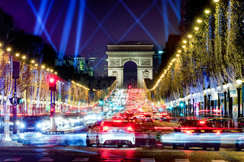 Champs Elysees, Paris, France stock photography