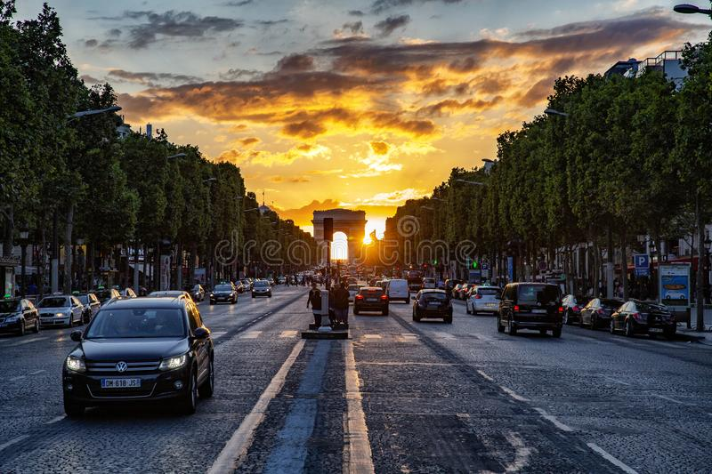 Champs Elysees, paris royalty free stock image