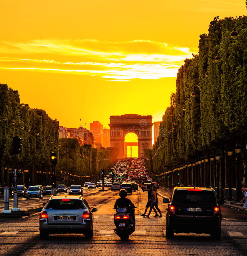 Champs Elysees royalty free stock photography