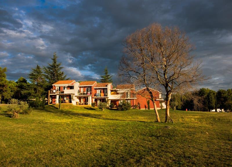 Champs verts de la Croatie Porec photos stock