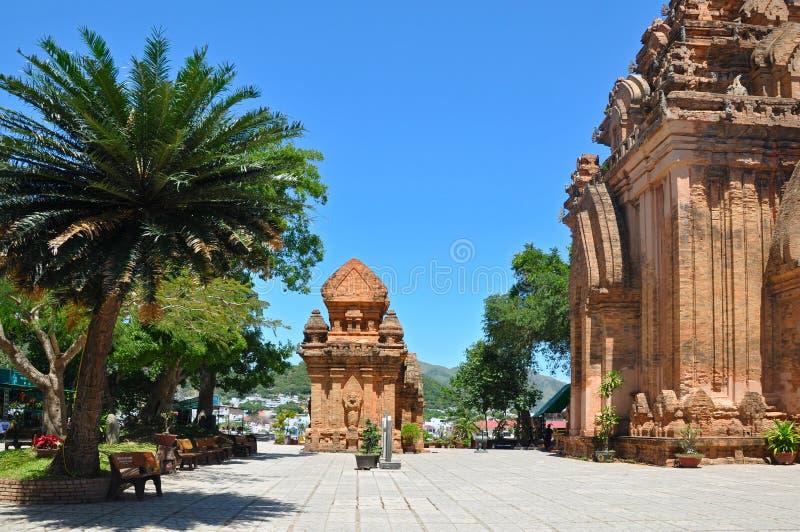 Chamtorn för Po Nagar, Nha Trang. arkivbild