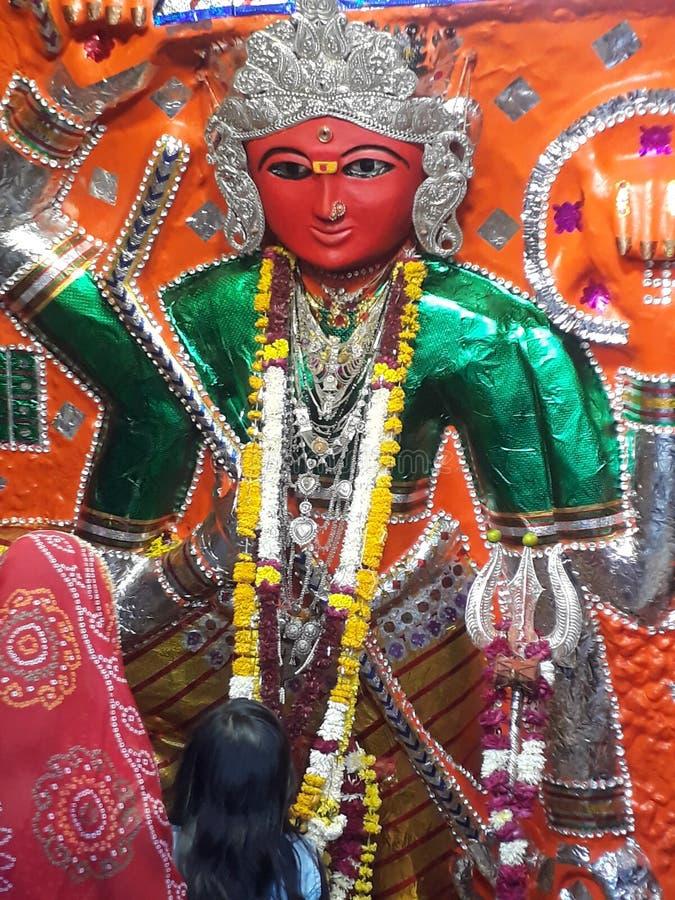 Chamuda de maa de Jai dans le temple de Dewas photographie stock