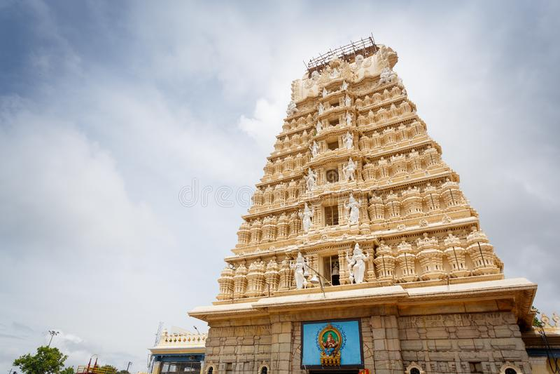 Chamundeshwari tempel i Mysore royaltyfria foton