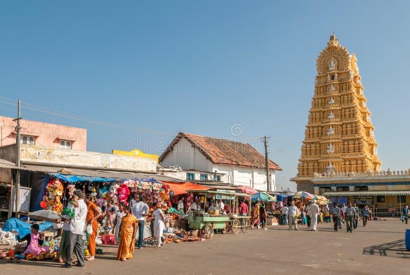Chamundeshwari tempel - Mysore royaltyfri fotografi