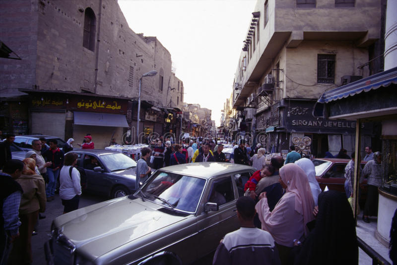 Chan al Chalili Basar, le Caire images stock