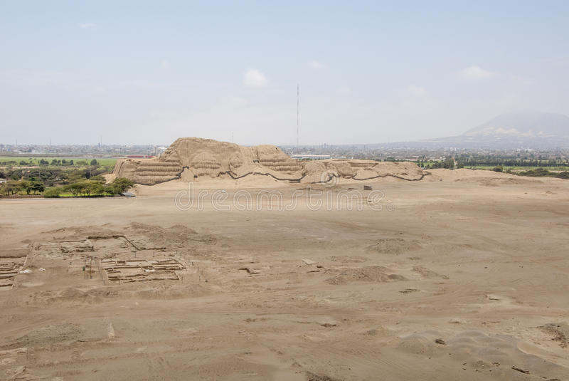 Chan Chan Archeological Site en Trujillo - Salaverry Perú imagen de archivo libre de regalías