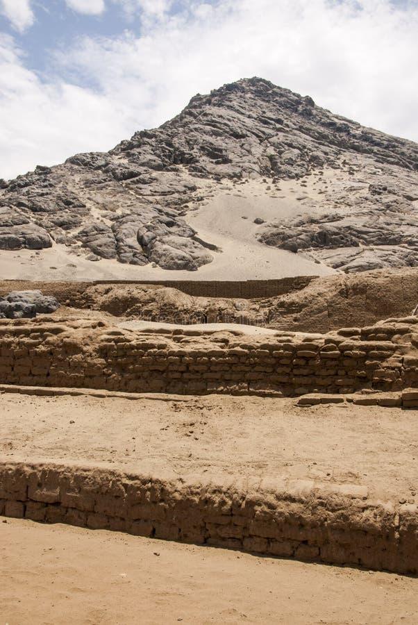 Chan Chan Archeological Site i Trujillo - Salaverry Peru arkivfoto