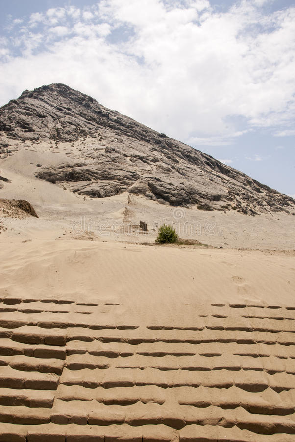 Chan Chan Archeological Site i Trujillo - Salaverry Peru arkivbilder