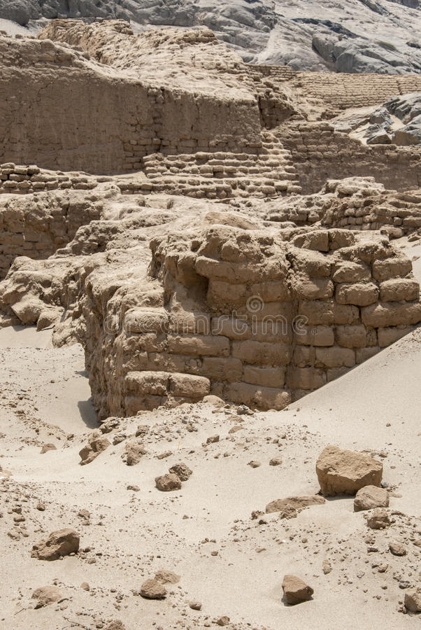 Chan Chan Archeological Site i Trujillo - Salaverry Peru royaltyfria bilder