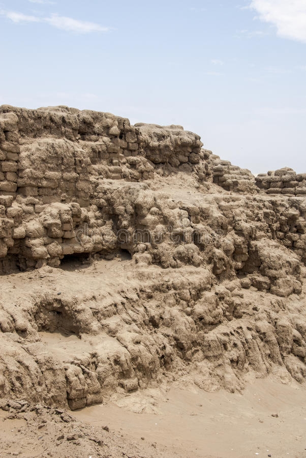 Chan Chan Archeological Site i Trujillo - Salaverry Peru arkivfoton