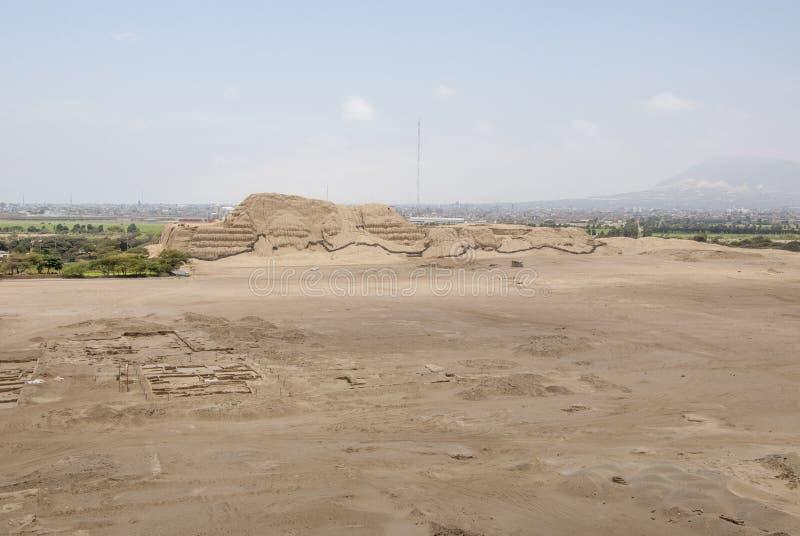 Chan Chan Archeological Site i Trujillo - Salaverry Peru royaltyfri bild