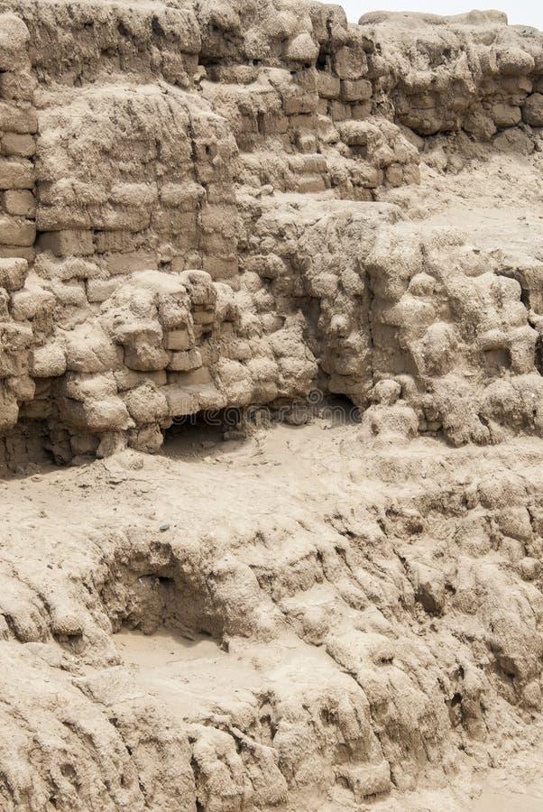 Chan Chan Archeological Site i Trujillo - Salaverry Peru royaltyfri foto
