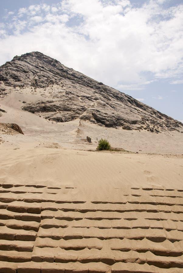 Chan Chan Archeological Site in Trujillo - Salaverry Peru stockbilder