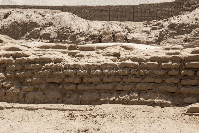 Chan Chan Archeological Site in Trujillo - Salaverry Peru stock afbeelding