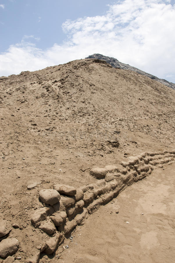 Chan Chan Archeological Site in Trujillo - Salaverry Peru royalty-vrije stock afbeelding