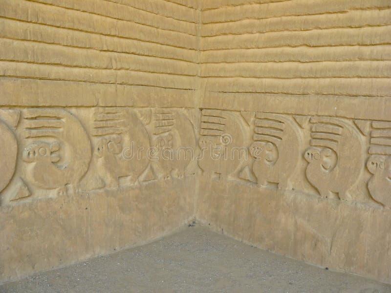 Chan Chan, Perú. imagen de archivo libre de regalías