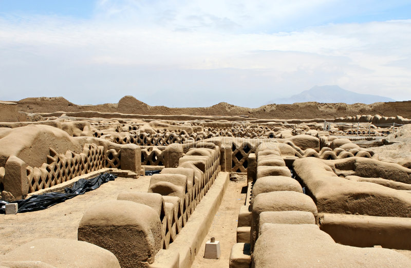 Chan Chan Ruins. In modern day Peru royalty free stock image