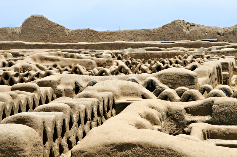 Chan Chan Ruins. In modern day Peru is the oldest known Pre-Colombian city in all of South America stock photography