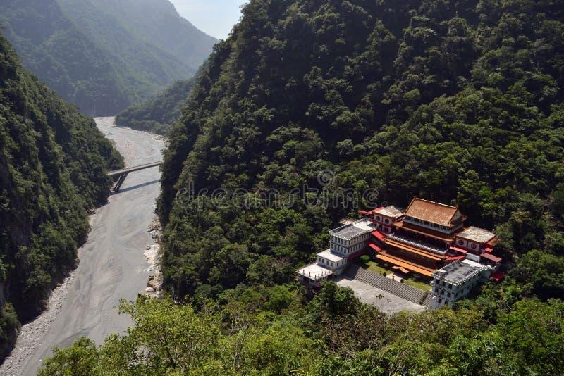 Chan Guang Temple au milieu de parc national de Taroko, images stock