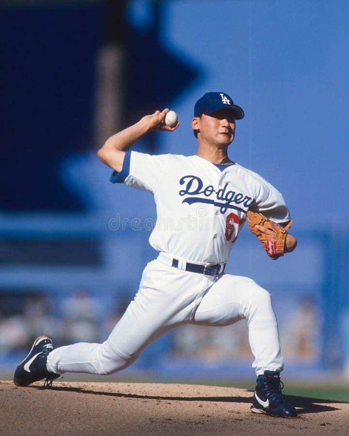 Chan-ho Park Лос-Анджелес Dodgers стоковое фото rf