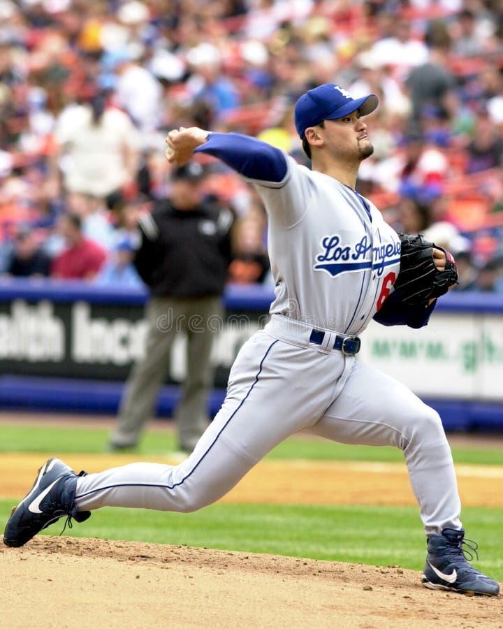 Chan-ho Park, Лос-Анджелес Dodgers стоковое фото rf
