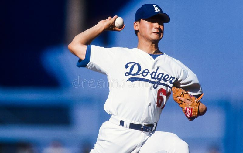 Chan Ho Park. Los Angeles Dodgers pitcher Chan Ho Park. Image taken from a color slide stock photo