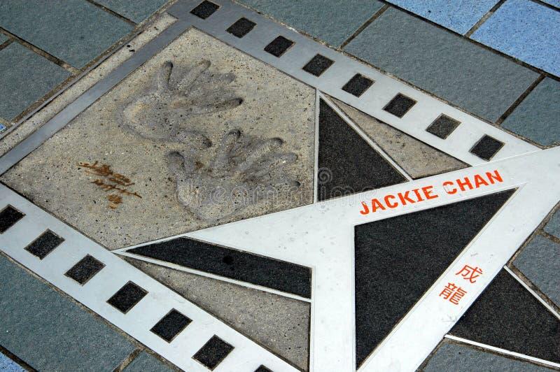 chan Hong Jackie kong gwiazda obraz stock