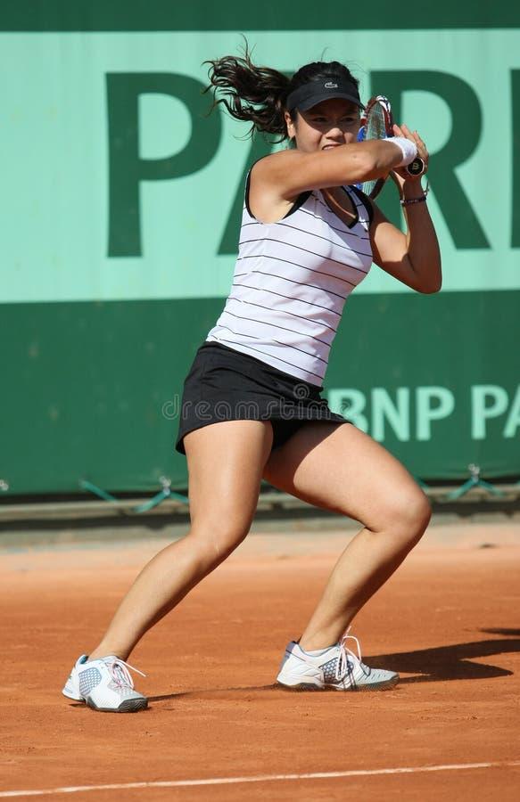 Chan Yung-janv. (bande) chez Roland Garros 2011 photographie stock libre de droits