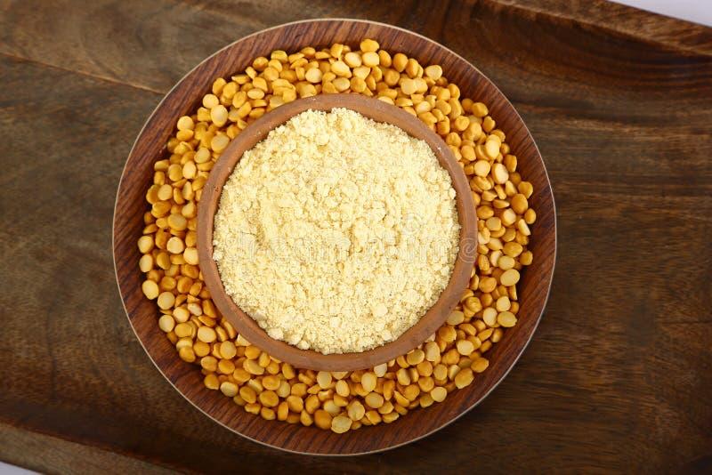 Chana Daal mit Besan, indisches Lebensmittel lizenzfreie stockbilder
