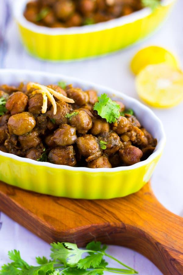 Chana Masala/Chole Bhature/карри нутов/индийская еда стиля стоковые фото
