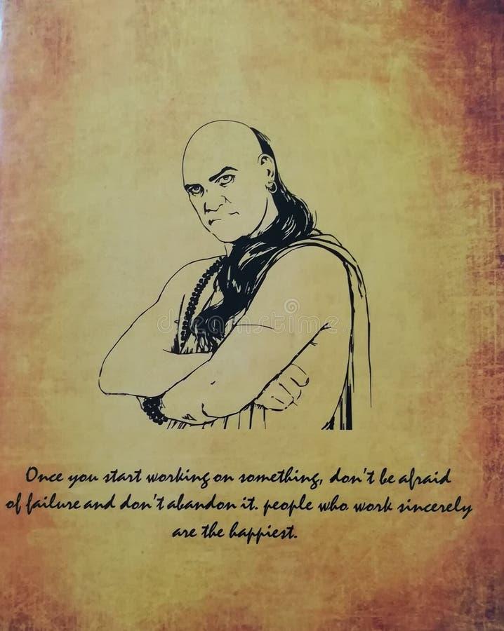 Chanakya foto che è conosciuto come il più grande economista dell'India immagini stock libere da diritti