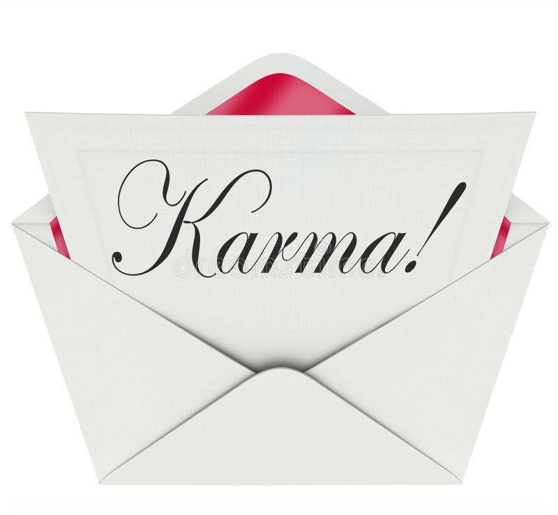 Chance de bonnes actualités d'enveloppe de Karma Invitation Letter Message Open illustration de vecteur