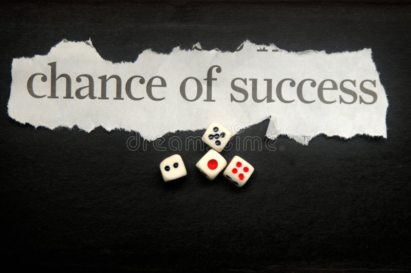 Chance of success stock photography
