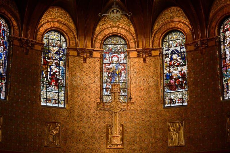 Chancel of Boston Trinity Church, Boston, USA stock photo