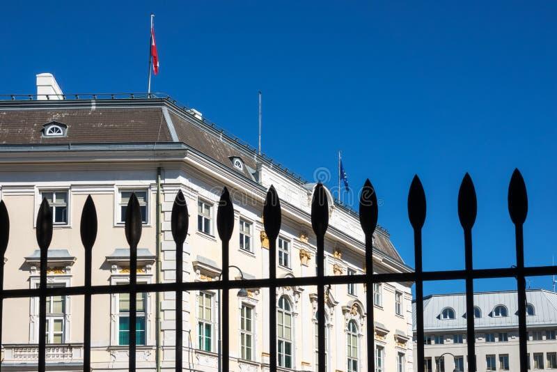 Chancellerie fédérale de l'Autriche images libres de droits