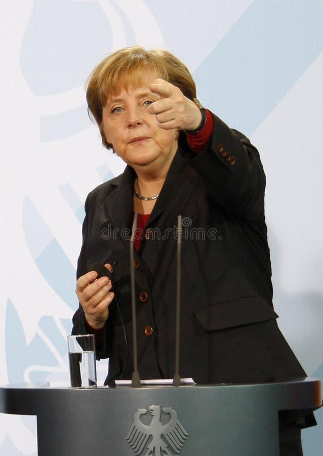 Chancelor alemão Angela Merkel foto de stock