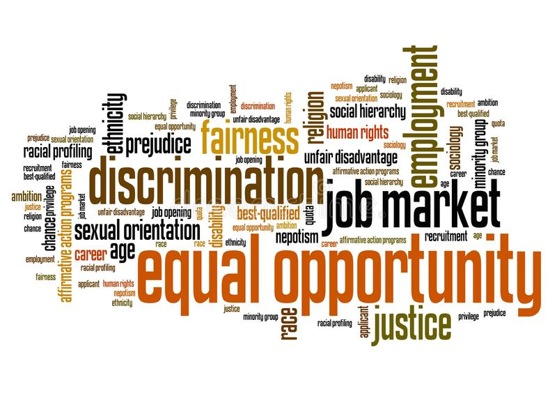 Chancengleichheit lizenzfreie abbildung
