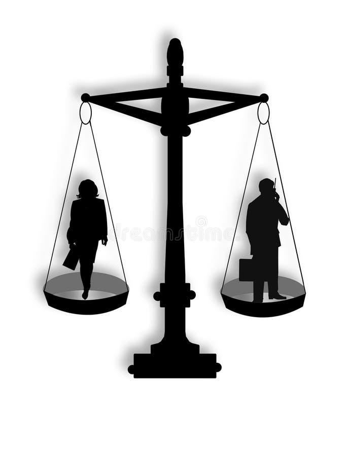 Chancengleichheit in der Geschäft Abbildung lizenzfreie abbildung