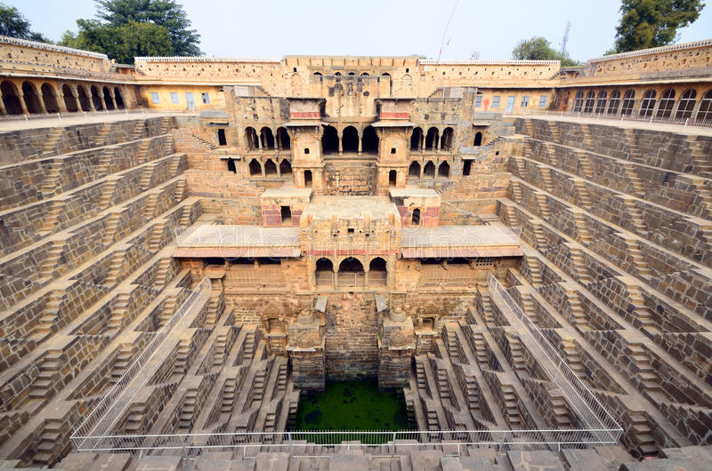 Chand Baori stockbilder