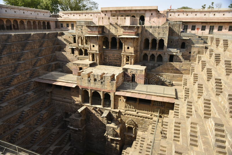 Chand Baori kroka Well indu zdjęcia stock