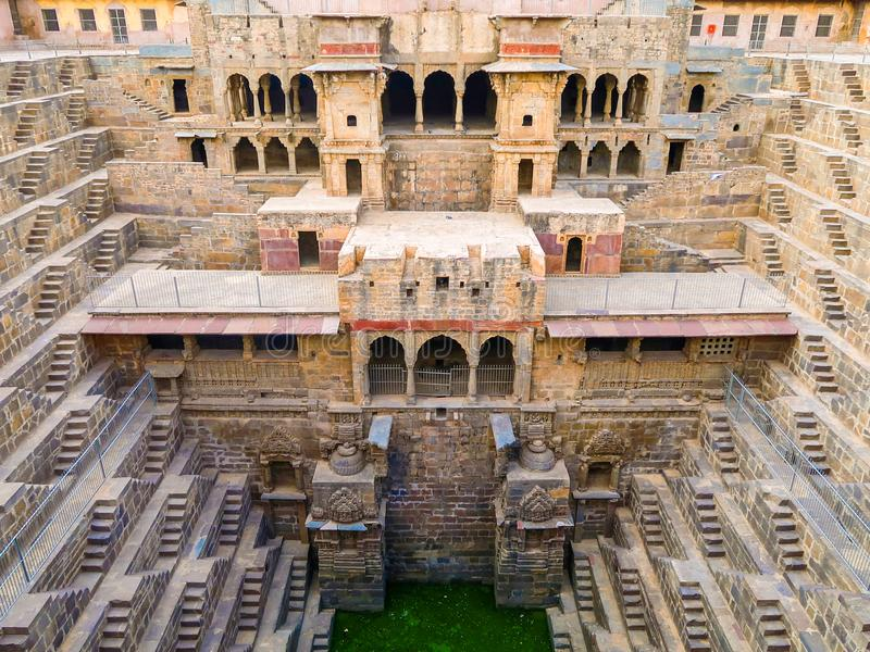 Chand Baori Stepwell, Jaipur, Rajasthan, Índia fotografia de stock