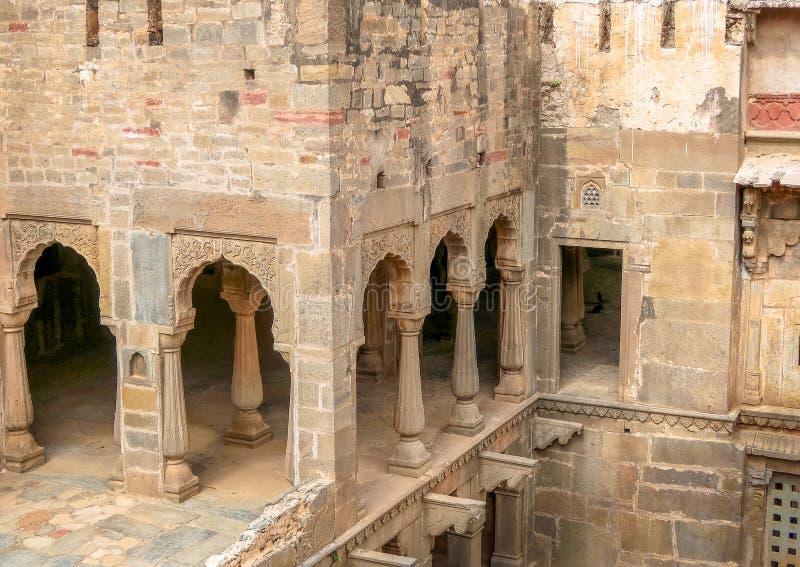 Chand Baori Stepwell, Jaipur, Rajasthan, Índia imagens de stock