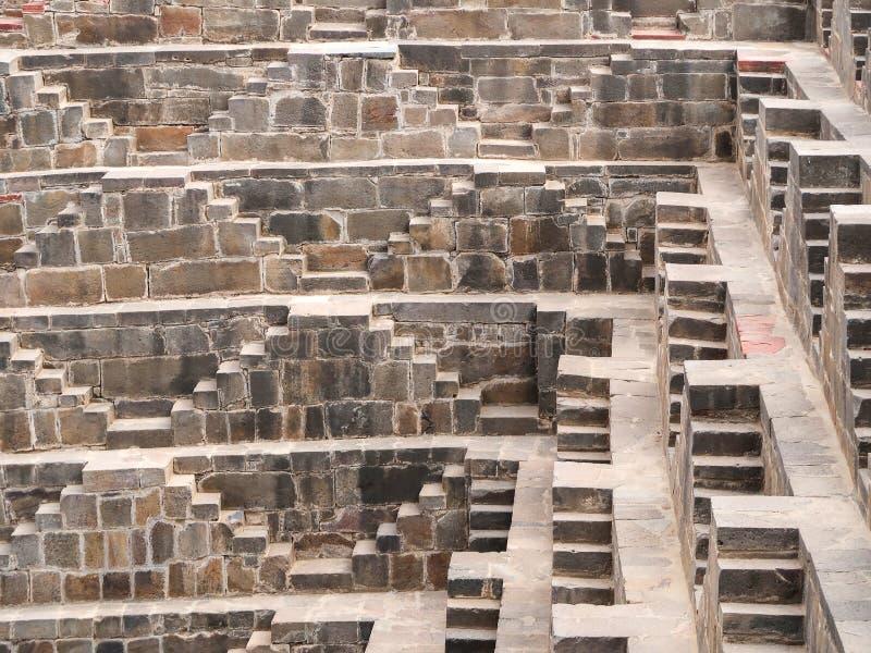 Chand Baori Stepwell, Jaipur, Rajasthan, Índia foto de stock royalty free