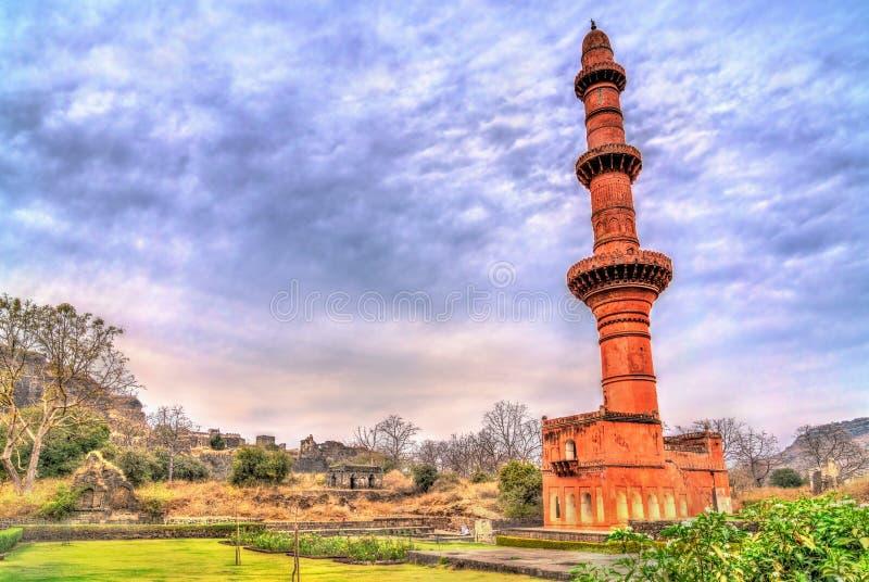 Chand Minar, ένας μιναρές στο οχυρό Daulatabad Maharashtra, Ινδία στοκ φωτογραφία με δικαίωμα ελεύθερης χρήσης