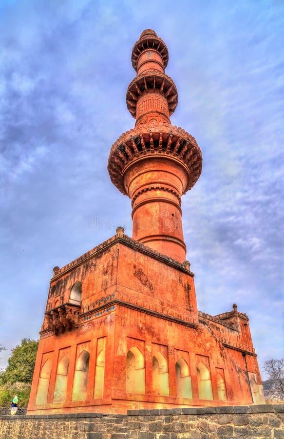 Chand Minar, ένας μιναρές στο οχυρό Daulatabad Maharashtra, Ινδία στοκ εικόνες με δικαίωμα ελεύθερης χρήσης