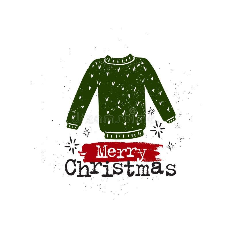 Chandail de Joyeux Noël illustration libre de droits